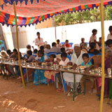 Special food serving to our beneficiaries and children